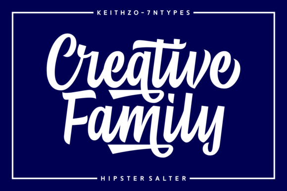 Print on Demand: Hipster Salter Script & Handwritten Font By Keithzo (7NTypes) - Image 4