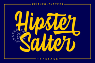 Hipster Salter Font By Keithzo (7NTypes)
