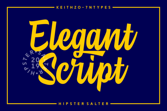 Print on Demand: Hipster Salter Script & Handwritten Font By Keithzo (7NTypes) - Image 5