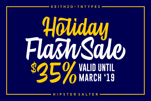 Print on Demand: Hipster Salter Script & Handwritten Font By Keithzo (7NTypes) - Image 7