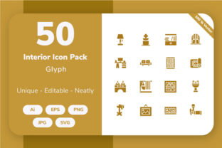 Home Interior - Glyph Graphic By Icon Stale
