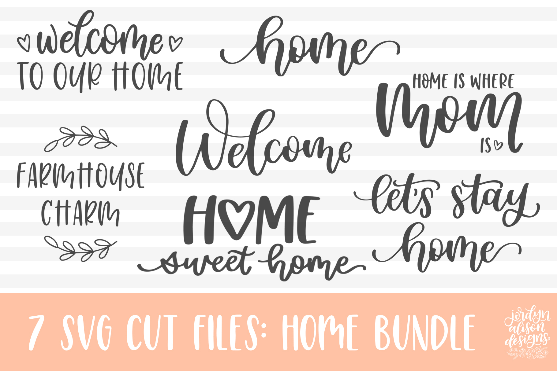Download Free Home Bundle Graphic By Jordynalisondesigns Creative Fabrica for Cricut Explore, Silhouette and other cutting machines.