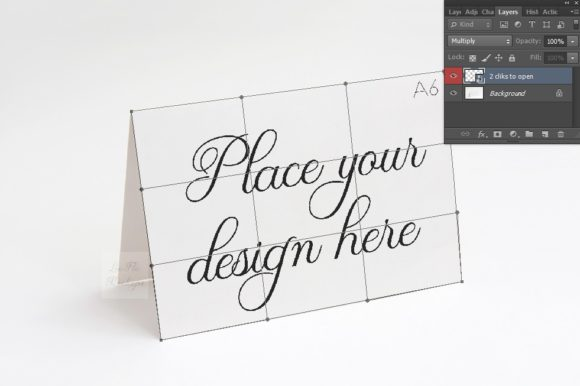 Download Free Horizontal A6 A5 Greeting Card Mockup Graphic By Leo Flo Mockups for Cricut Explore, Silhouette and other cutting machines.