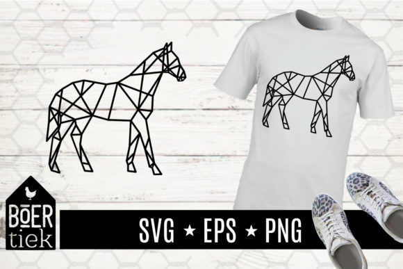Download Free Horse Geometric Graphic By Boertiek Creative Fabrica for Cricut Explore, Silhouette and other cutting machines.