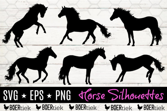 Horse Silhouettes Graphic Crafts By Boertiek
