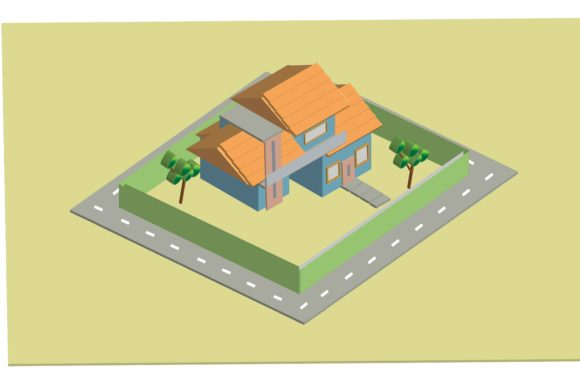 Print on Demand: House Isometric Vector Graphic Scene Generators By nurionart