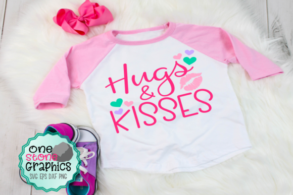 Hugs and Kisses Svg Graphic Crafts By OneStoneGraphics
