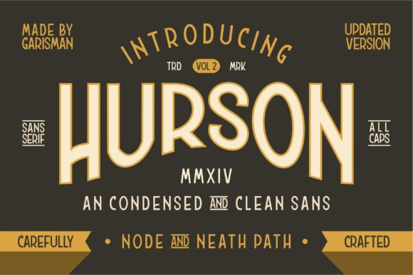 Print on Demand: Hurson Sans Serif Font By Garisman Studio
