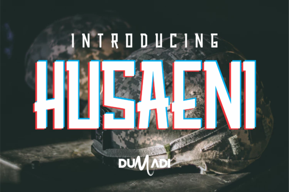 Print on Demand: Husaeni Display Font By DUMADI