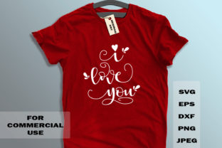 Download Free I Love You Graphic By Midmagart Creative Fabrica for Cricut Explore, Silhouette and other cutting machines.