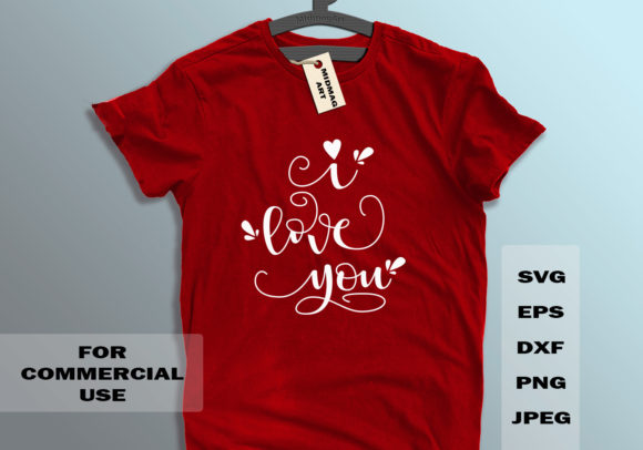 I Love You Svg Graphic Objects By MidmagArt - Image 1