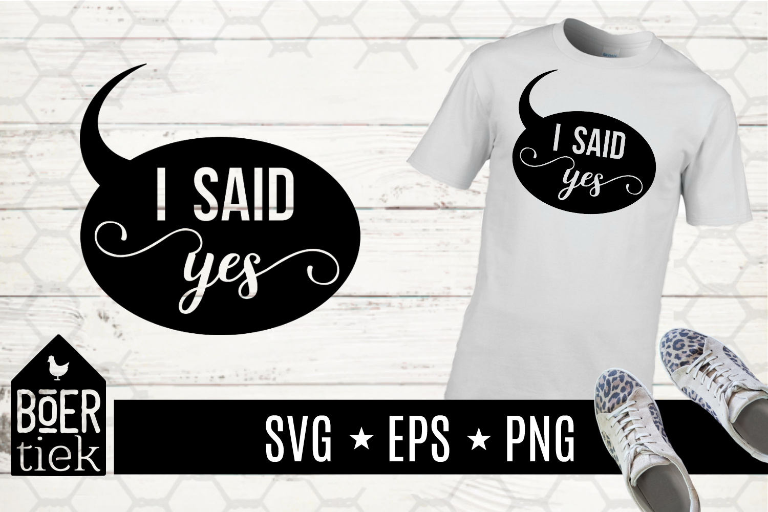 Download Free I Said Yes Wedding Graphic By Boertiek Creative Fabrica for Cricut Explore, Silhouette and other cutting machines.