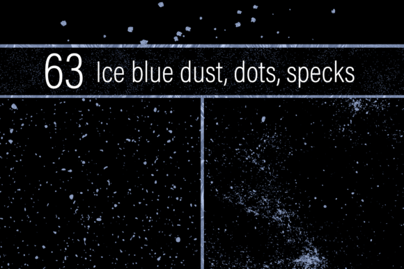 Print on Demand: Ice Blue Dust, Dots and Specks Graphic Textures By JulieCampbellDesigns