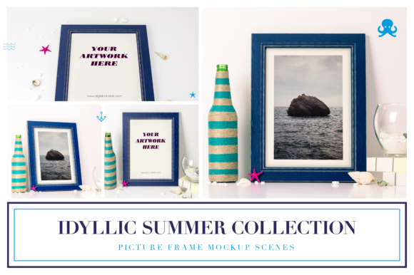 Idyllic Summer Collection Graphic Product Mockups By dumitrasconiu.design - Image 1