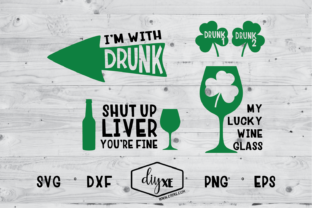 I'm with Drunk Bundle Graphic Crafts By Sheryl Holst