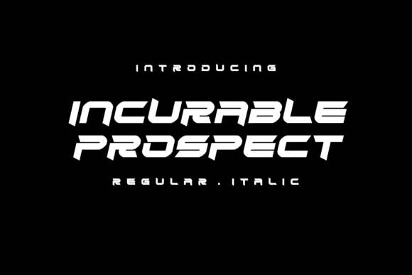 Print on Demand: Incurable Prospect Display Font By EyeCone