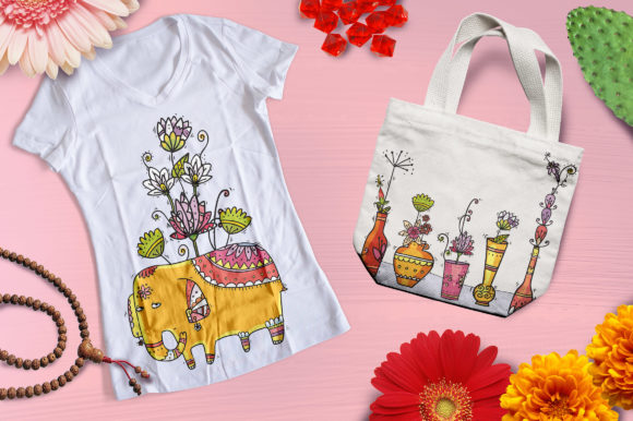 Print on Demand: Indian Flowers Graphic Objects By Zooza Art - Image 9