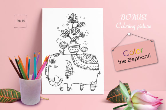 Print on Demand: Indian Flowers Graphic Objects By Zooza Art - Image 10