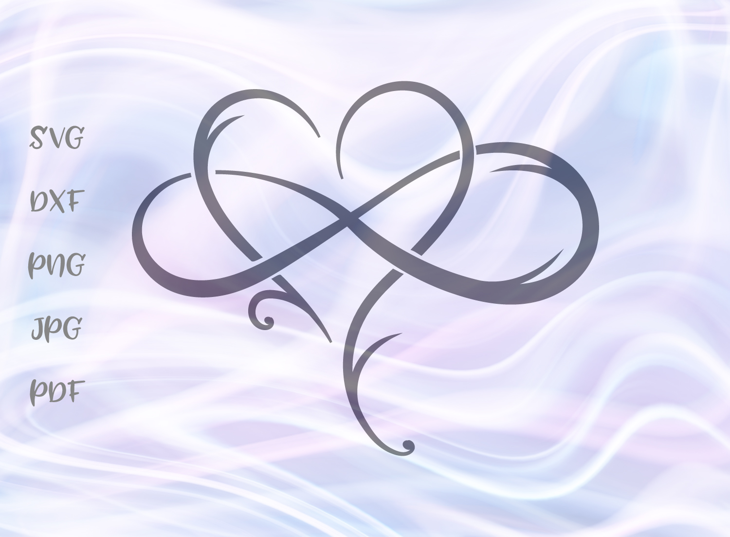 Infinity Heart Graphic By Digitals By Hanna Creative Fabrica