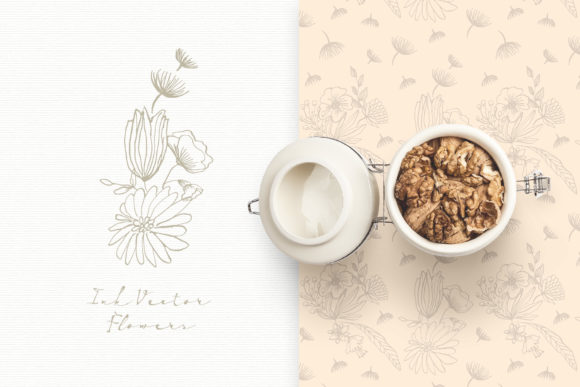 Ink Vector Flowers Graphic Illustrations By webvilla - Image 4