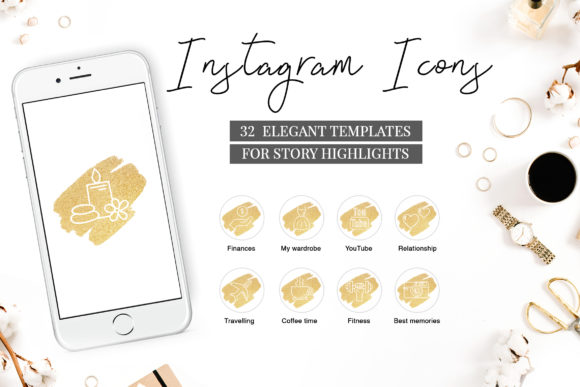 Instagram Highlight Covers V.3 Graphic By switzershop