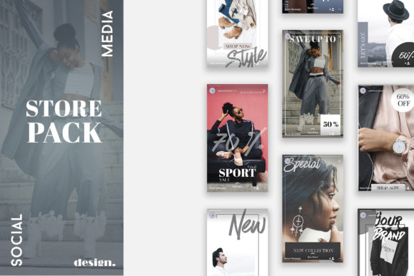 Print on Demand: Instagram Stories Store Fashion Pack Graphic Web Elements By Awesome Templates