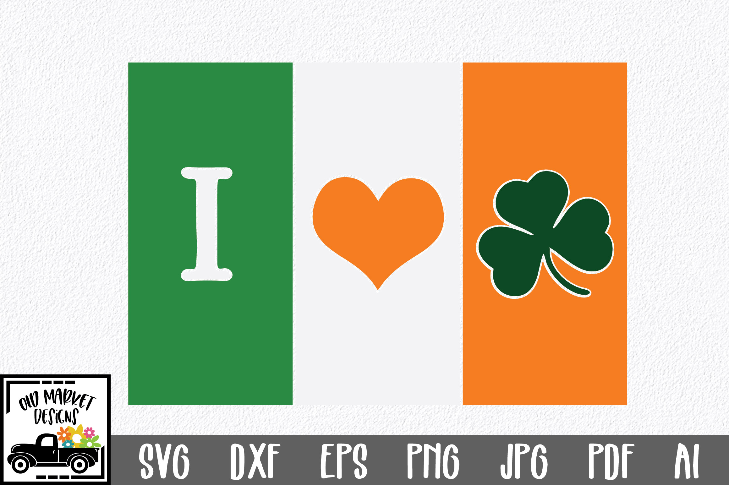 Download Free Irish Flag St Patrick S Day Graphic By Oldmarketdesigns for Cricut Explore, Silhouette and other cutting machines.