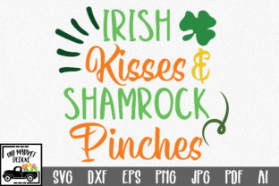Download Free Irish Kisses Shamrock Pinches Svg Cut File Grafico Por for Cricut Explore, Silhouette and other cutting machines.