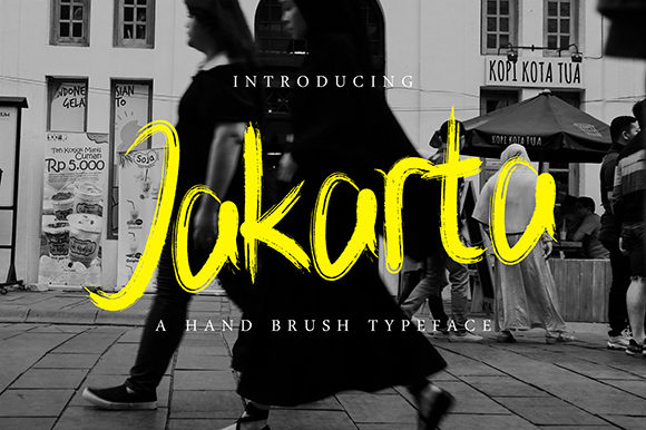 Print on Demand: Jakarta Decorative Font By arsycreative