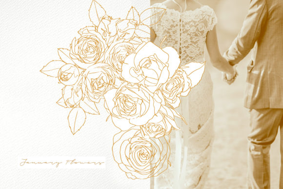 January Flowers Graphic Illustrations By webvilla - Image 5