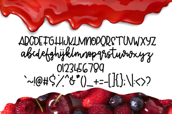 Print on Demand: Jelly Berry Script & Handwritten Font By Patricia (DMStd) - Image 6