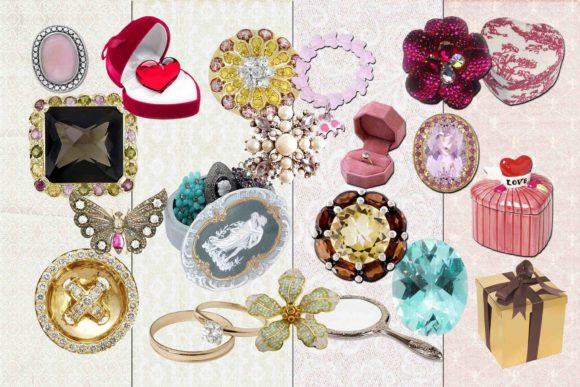 Print on Demand: Jewelry Clipart Graphic Illustrations By retrowalldecor