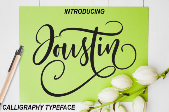 Print on Demand: Joustin Script & Handwritten Font By YanIndesign