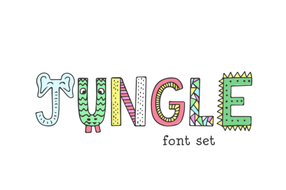 Print on Demand: Jungle Decorativa Fuente Por Salt & Pepper Designs