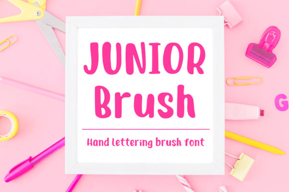 Print on Demand: Junior Brush Script & Handwritten Font By Dasagani
