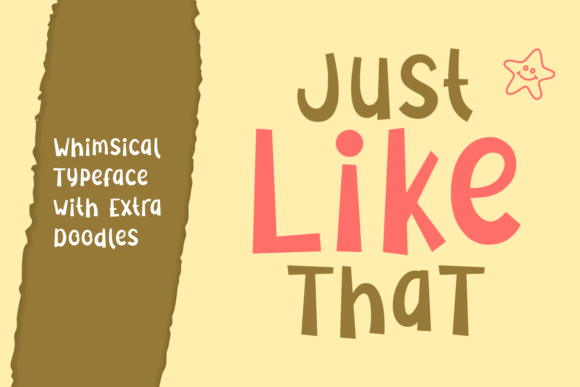Just Like That Font By Rifki (7ntypes) Image 1