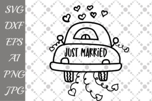 Download Free Just Married Graphic By Prettydesignstudio Creative Fabrica for Cricut Explore, Silhouette and other cutting machines.