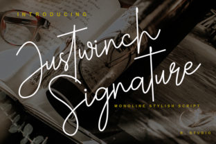 Justwinch Signature Font By R. Studio
