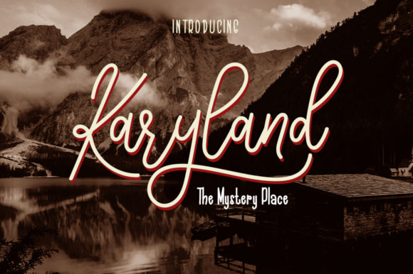 Print on Demand: Karyland Duo Script & Handwritten Font By Haksen