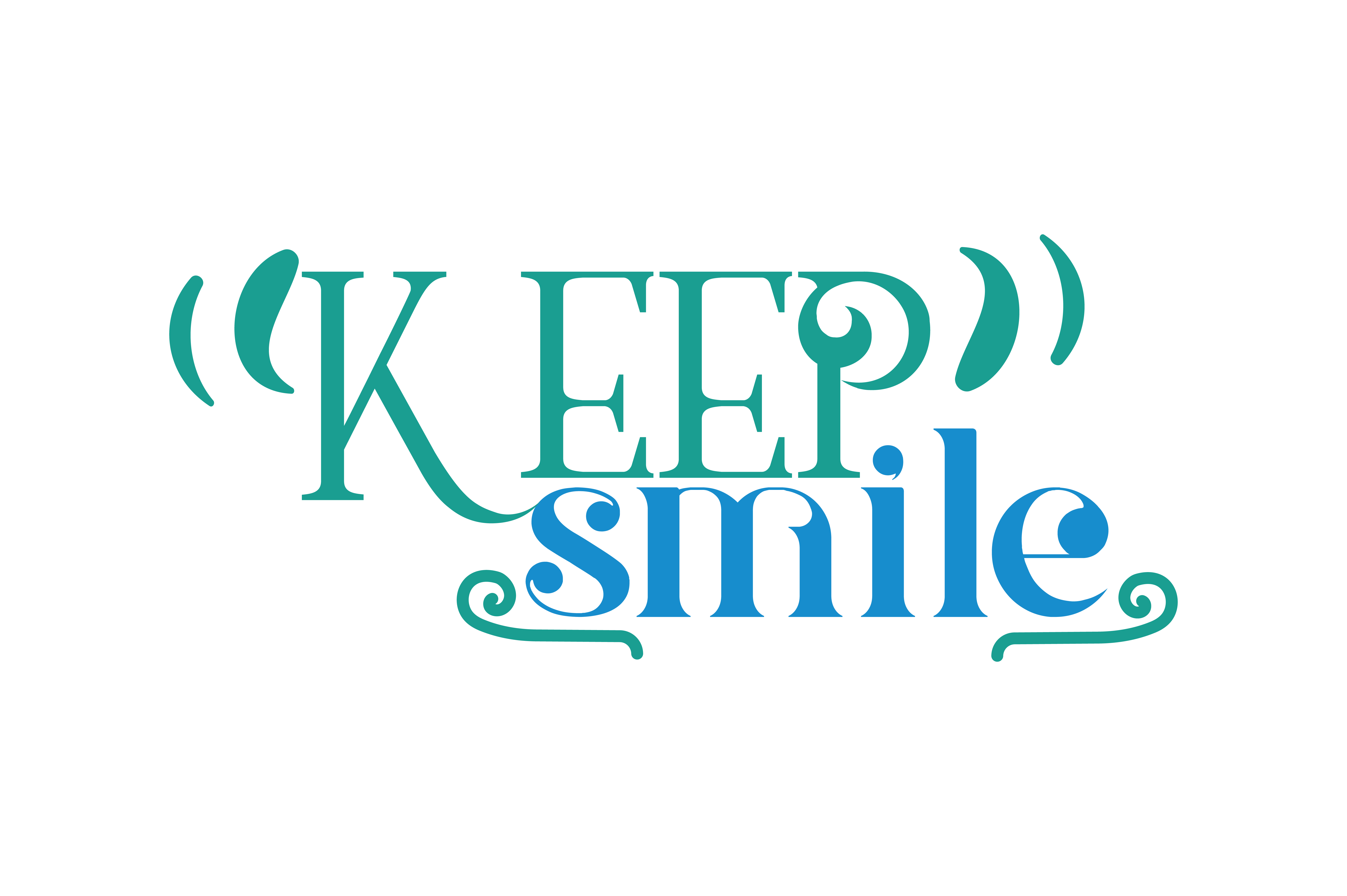 Download Free Keep Smile Quote Svg Cut Graphic By Thelucky Creative Fabrica for Cricut Explore, Silhouette and other cutting machines.