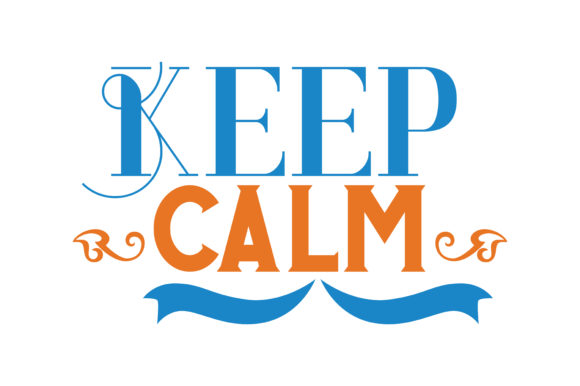 Print on Demand: Keep Calm Quote SVG Cut Graphic Crafts By TheLucky