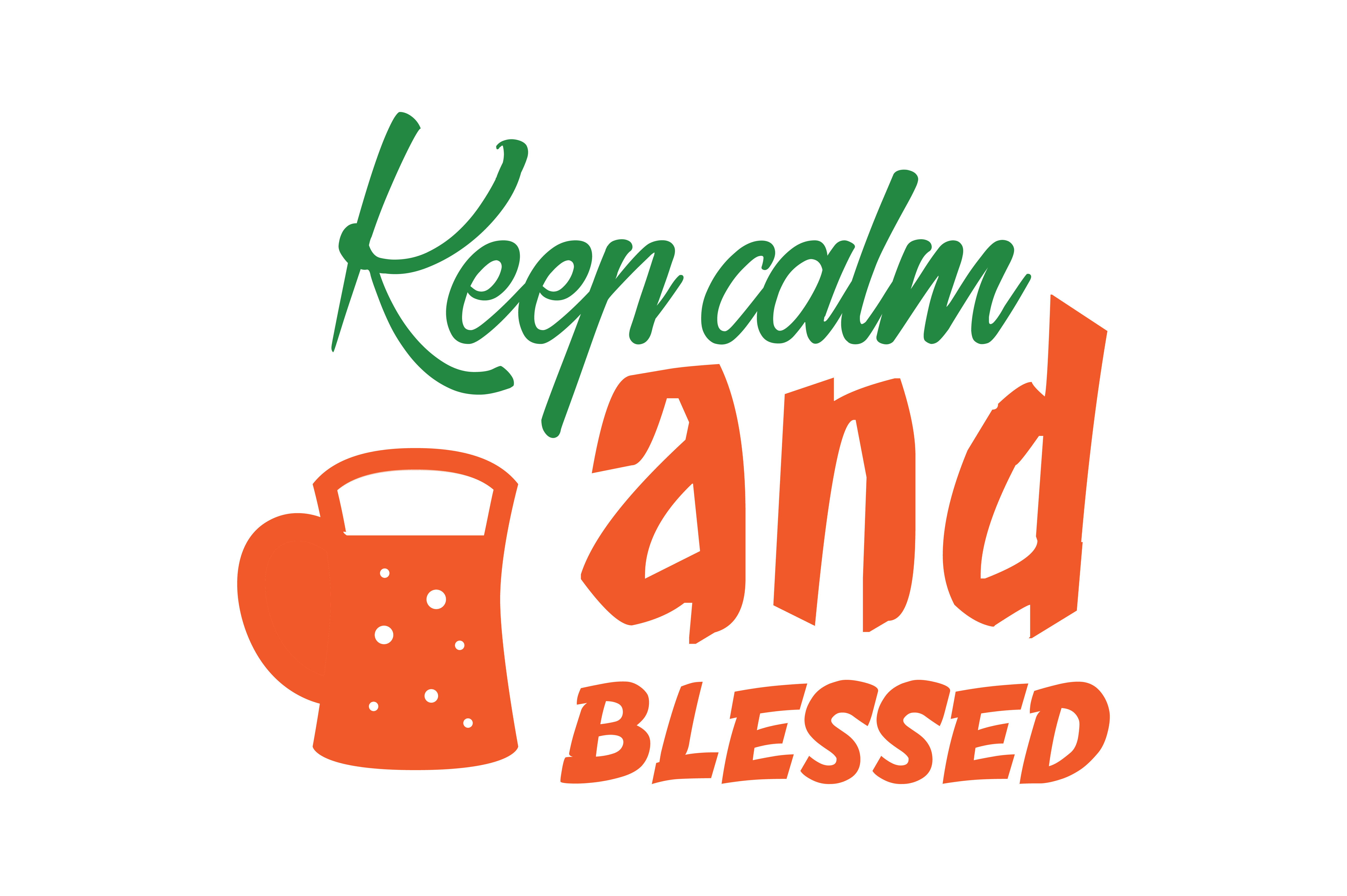 Keep Calm And Blessed Quote Svg Cut Graphic By Thelucky Creative Fabrica