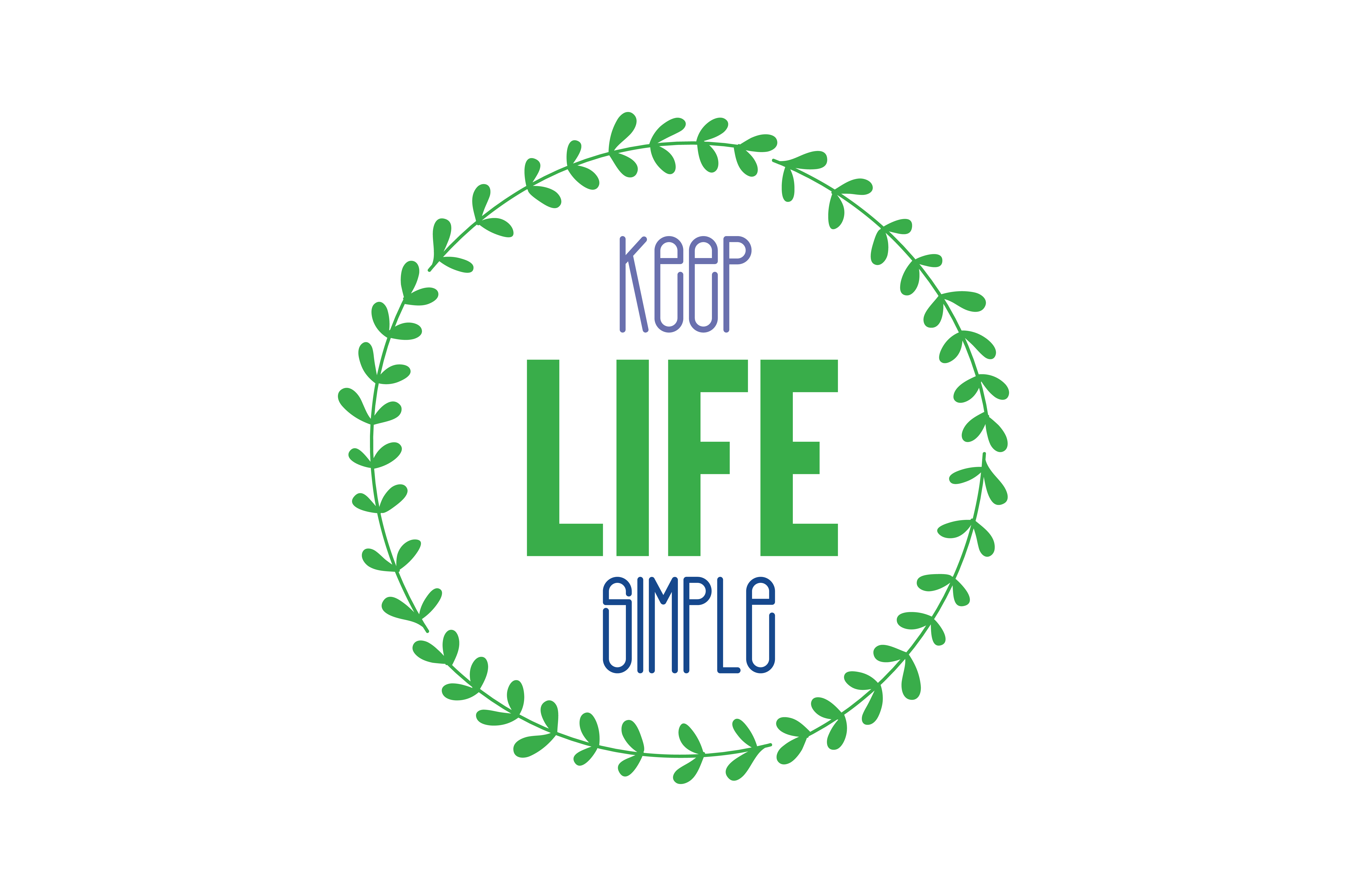 Download Free Keep Life Simple Svg Cut Quote Graphic By Thelucky Creative for Cricut Explore, Silhouette and other cutting machines.