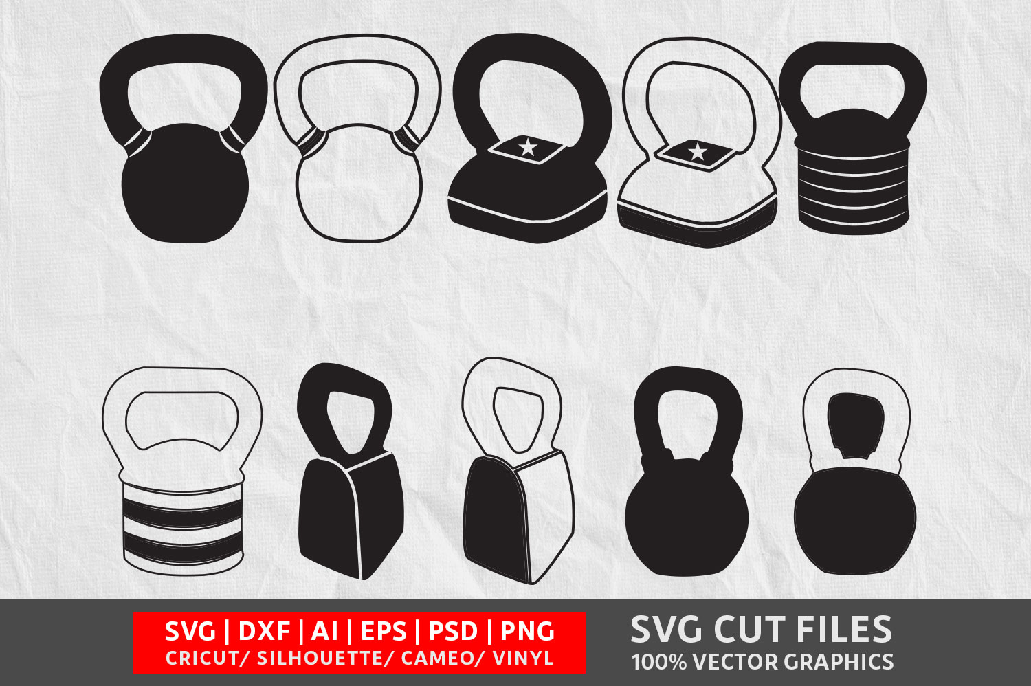 Download Free Kettlebell Graphic By Design Palace Creative Fabrica for Cricut Explore, Silhouette and other cutting machines.