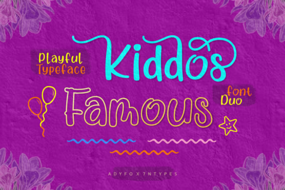 Print on Demand: Kiddos Famous Script & Handwritten Font By Adyfo (7NTypes)