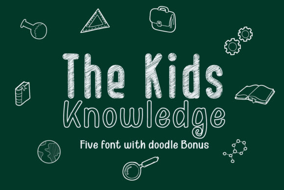 Print on Demand: Kids Knowledge Family Sans Serif Fuente Por 38.lineart