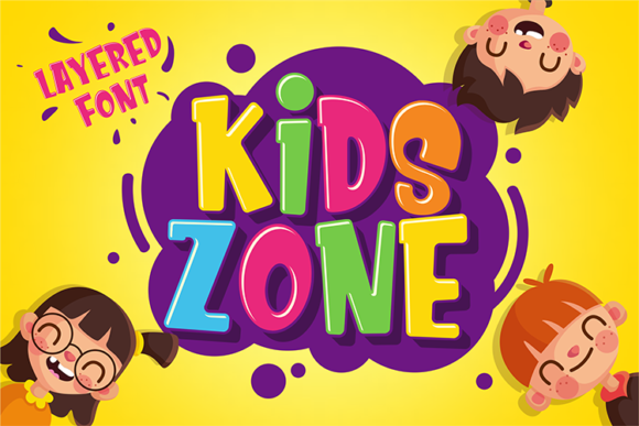 Print on Demand: Kids Zone Display Font By figuree studio