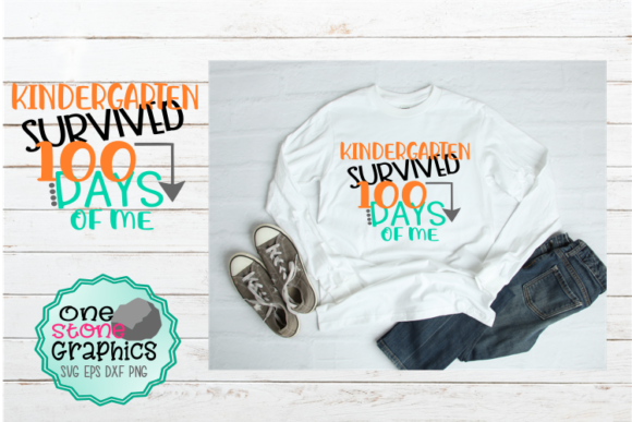 Download Free Kindergarten Survived 100 Days Of Me Svg Graphic By Onestonegraphics Creative Fabrica for Cricut Explore, Silhouette and other cutting machines.