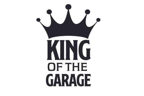 Download Free King Of The Garage Svg Cut File By Creative Fabrica Crafts for Cricut Explore, Silhouette and other cutting machines.