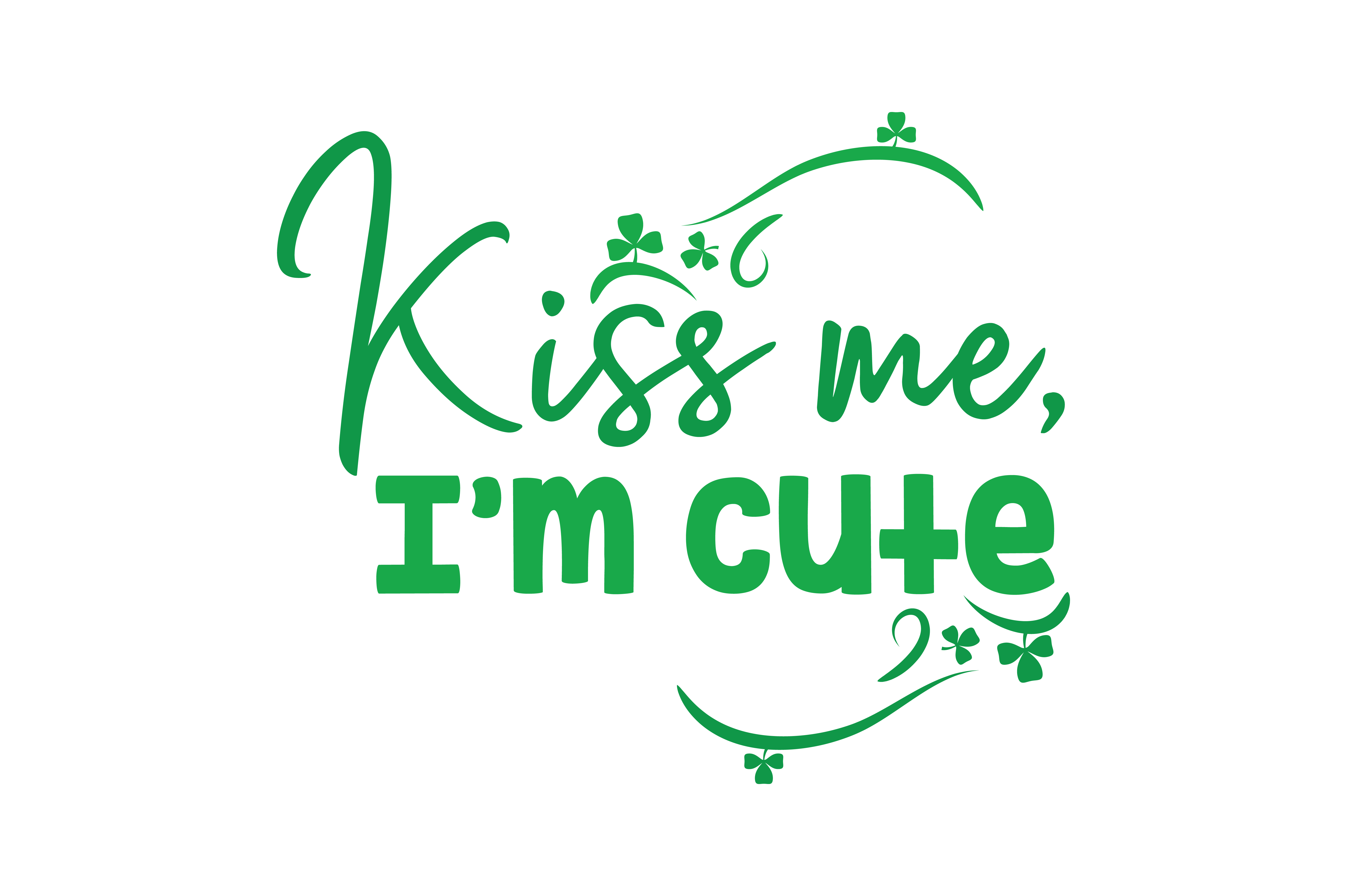 Download Free Kiss Me I M Cute Quote Svg Cut Graphic By Thelucky Creative for Cricut Explore, Silhouette and other cutting machines.